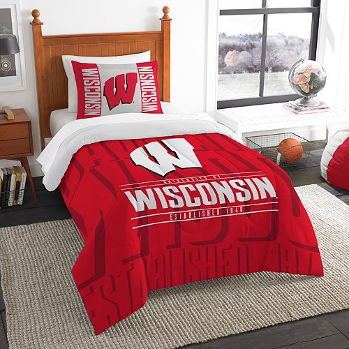 Wisconsin Badgers Modern Take Twin Comforter Set by Northwest