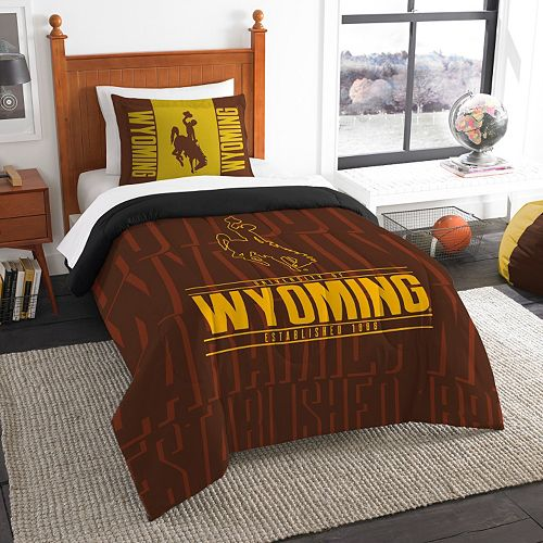 Wyoming Cowboys Modern Take Twin Comforter Set by Northwest