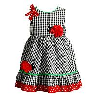 Baby Girl Youngland Ladybug Seersucker Dress