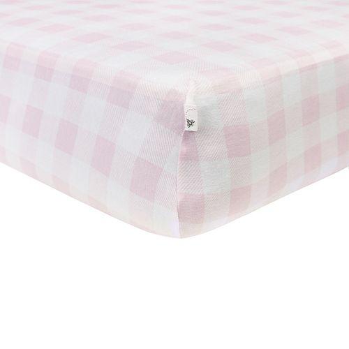 Burt's Bees Baby Organic Buffalo Check Fitted Crib Sheet