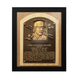 New York Yankees Catfish Hunter Baseball Hall of Fame Framed Plaque Print