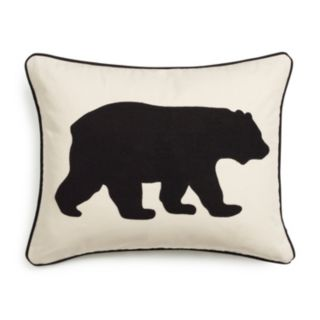 Eddie Bauer Bear Applique Twill Throw Pillow
