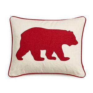 Eddie Bauer Bear Applique Twill Throw Pillow