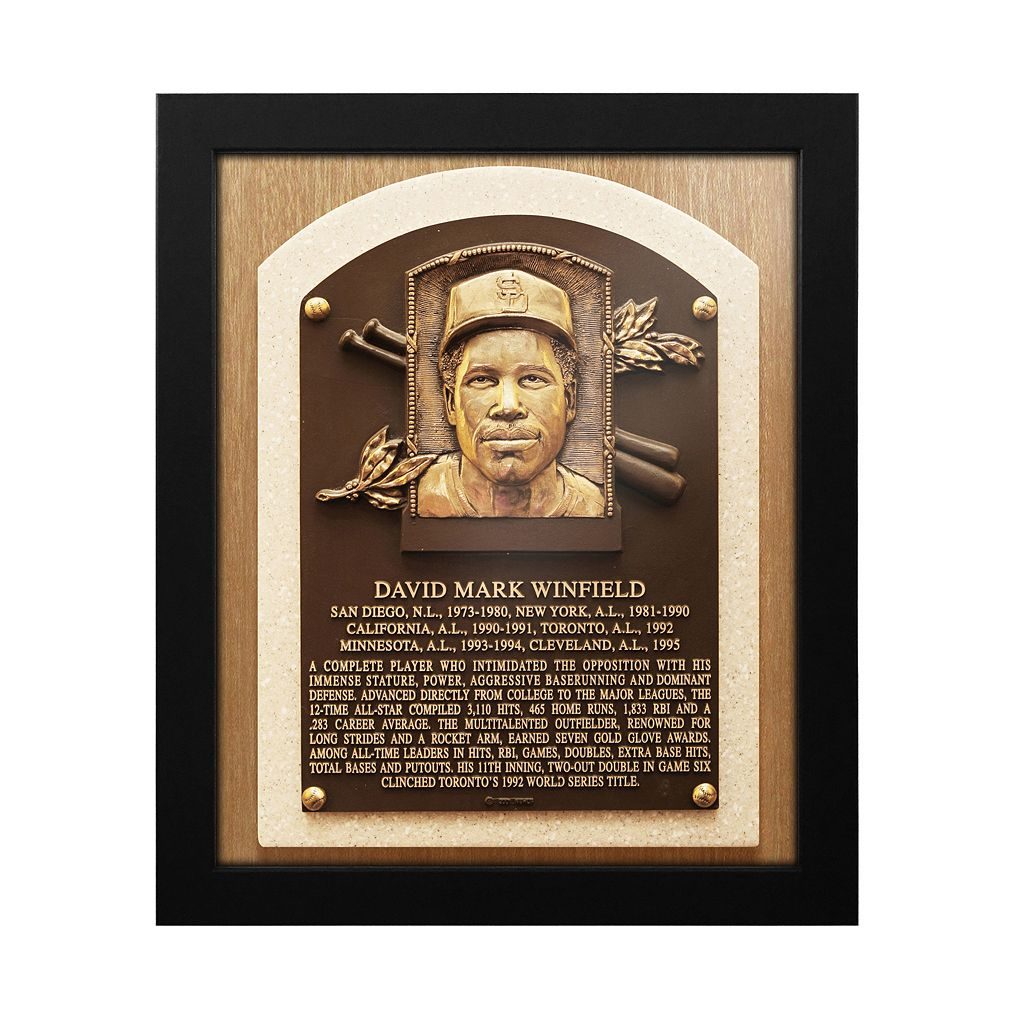San Diego Padres Dave Winfield Baseball Hall of Fame Framed Plaque Print