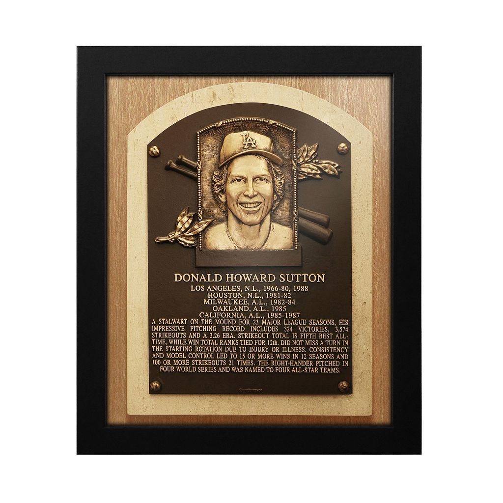 Los Angeles Dodgers Don Sutton Baseball Hall of Fame Framed Plaque Print