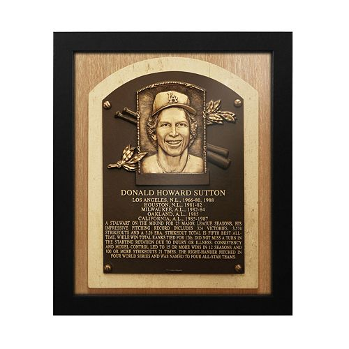 Los Angeles Dodgers Don Sutton Baseball Hall of Fame Framed Plaque Print