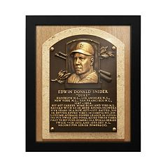 Los Angeles Dodgers Duke Snider Baseball Hall of Fame Framed Plaque Print