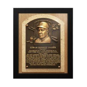 Los Angeles Dodgers Duke Snider Baseball Hall of Fame Framed Plaque Print