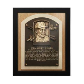 Baltimore Orioles Early Weaver Baseball Hall of Fame Framed Plaque Print