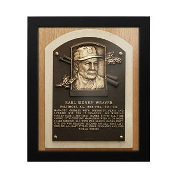 Baltimore Orioles Early Weaver Baseball Hall of Fame Framed Plaque Print