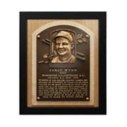 Cleveland Indians Early Wynn Baseball Hall of Fame Framed Plaque Print