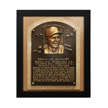 Atlanta Braves Eddie Mathews Baseball Hall of Fame Framed Plaque Print