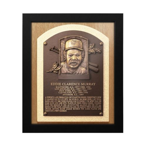 Baltimore Orioles Eddie Murray Baseball Hall of Fame Framed Plaque Print