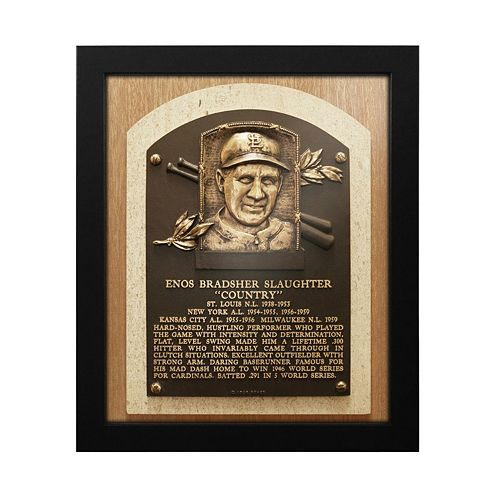 St. Louis Cardinals Enos Slaughter Baseball Hall of Fame Framed Plaque Print