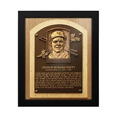 Kansas City Royals George Brett Baseball Hall of Fame Framed Plaque Print