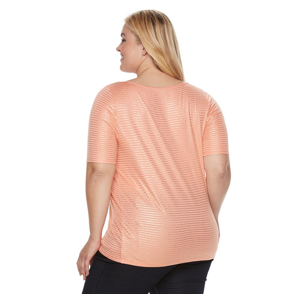 Plus Size Apt. 9® Essential Boatneck Tee
