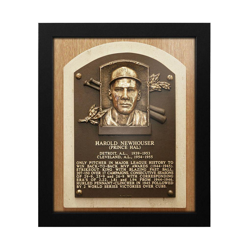Detroit Tigers Hal Newhouser Baseball Hall of Fame Framed Plaque Print