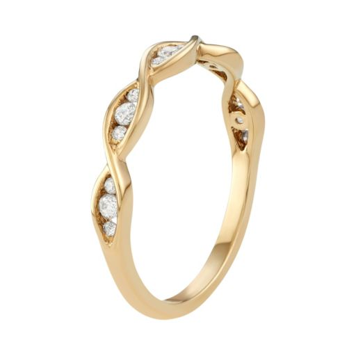 10k Gold 1/5 Carat T.W. Diamond Marquise Ring
