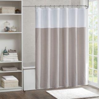 Madison Park Carson Jacquard Shower Curtain