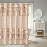 Madison Park Hope Ruffle Shower Curtain