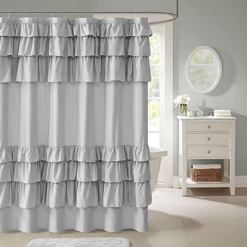 Madison Park Hope Ruffle Shower Curtain