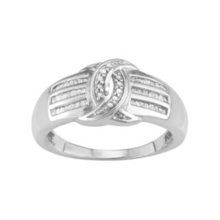 Sterling Silver 1/4 Carat T.W. Diamond Ring