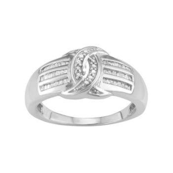 Sterling Silver 1/4 Carat T.W. Diamond Ring