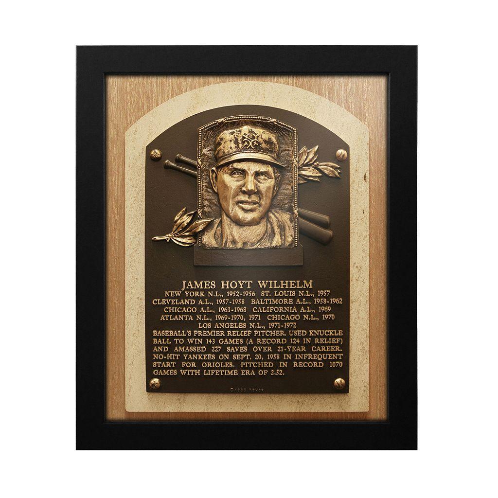 San Francisco Giants Hoyt Wilhelm Baseball Hall of Fame Framed Plaque Print