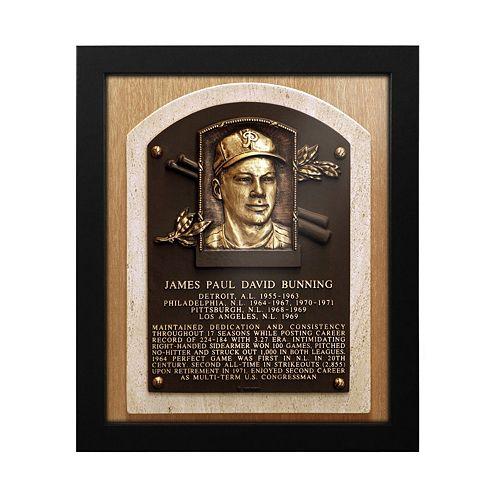 Philadelphia Phillies Jim Bunning Baseball Hall of Fame Framed Plaque Print
