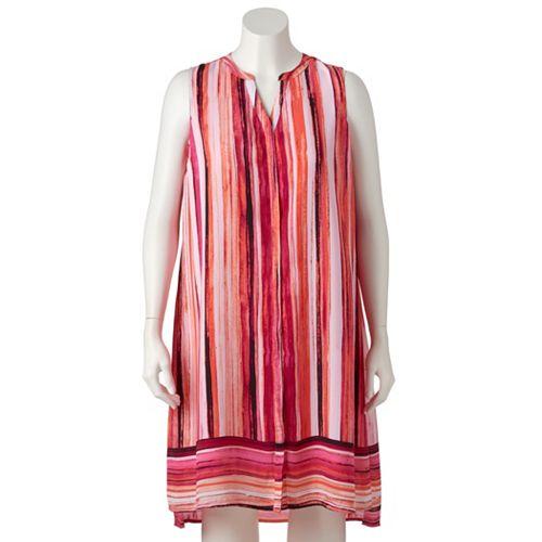 Plus Size Apt. 9® Splitneck Shirtdress
