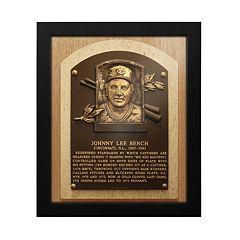Cincinnati Reds Johnny Bench Baseball Hall of Fame Framed Plaque Print