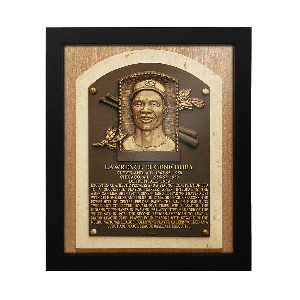 Cleveland Indians Larry Doby Baseball Hall of Fame Framed Plaque Print