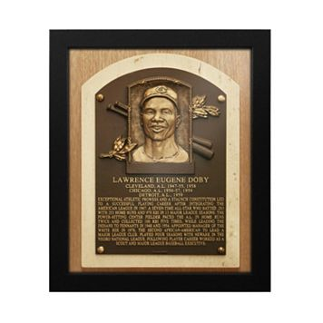 Cleveland Indians Larry Doby Baseball Hall of Fame Framed Plaque Print