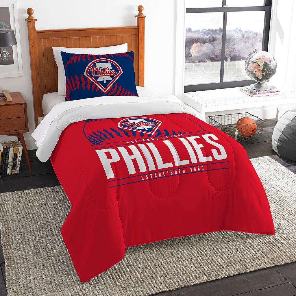 Philadelphia Phillies Grand Slam Twin Comforter Set by Northwest