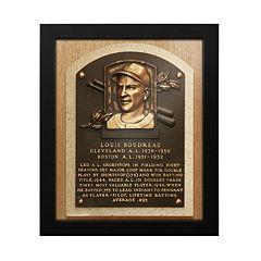 Cleveland Indians Lou Boudreau Baseball Hall of Fame Framed Plaque Print