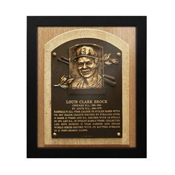 St. Louis Cardinals Lou Brock Baseball Hall of Fame Framed Plaque Print