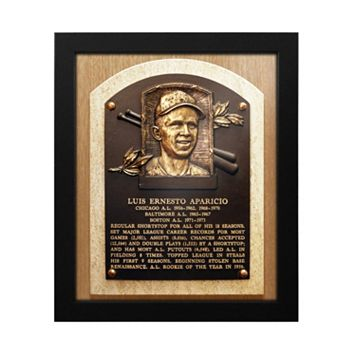 Chicago White Sox Luis Aparicio Baseball Hall of Fame Framed Plaque Print