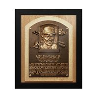 Texas Rangers Nolan Ryan Baseball Hall of Fame Framed Plaque Print
