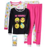 "Girls 4-10 ""Be Yourself"" Smiley 4-pc. Pajama Set"