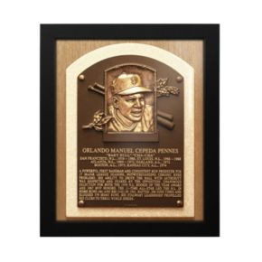 San Francisco Giants Orlando Cepeda Baseball Hall of Fame Framed Plaque Print