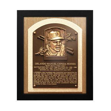 San Francisco Giants Orlando Cepeda Baseball Hall of Fame Framed Plaque Print