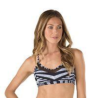 Women's Speedo Striped Mesh Bikini Top