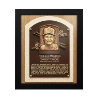 Milwaukee Brewers Paul Molitor Baseball Hall of Fame Framed Plaque Print