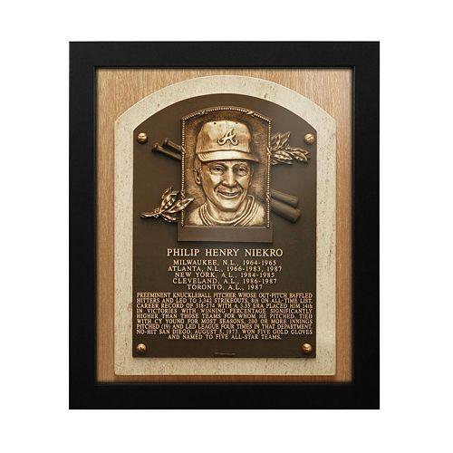 Atlanta Braves Phil Niekro Baseball Hall of Fame Framed Plaque Print