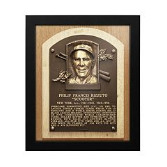 New York Yankees Phil Rizzuto Baseball Hall of Fame Framed Plaque Print