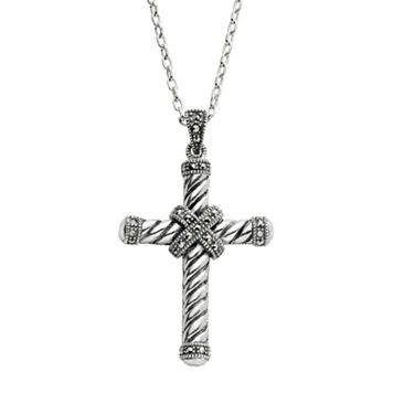 Lavish by TJM Sterling Silver Cross Pendant Necklace