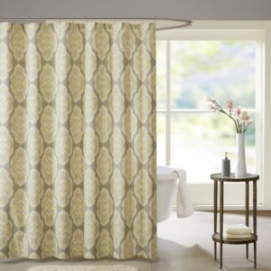Madison Park Luna Cotton Shower Curtain