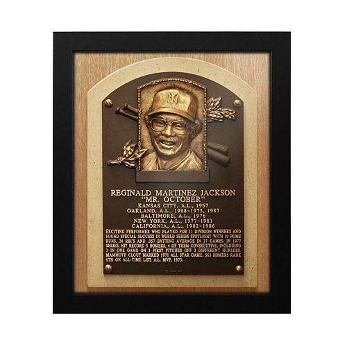 New York Yankees Reggie Jackson Baseball Hall of Fame Framed Plaque Print