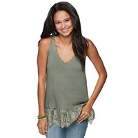 Juniors' Cloudchaser Lace Sweater Tank