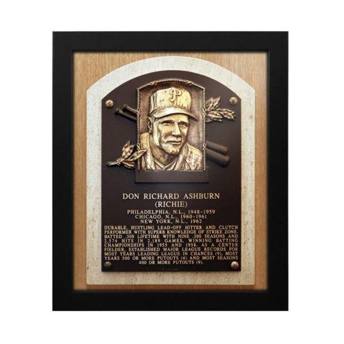 Philadelphia Phillies Richie Ashburn Baseball Hall of Fame Framed Plaque Print